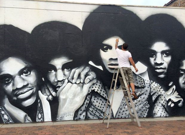 J5 mural to revive neighborhood for Jackson 5 mural gary indiana