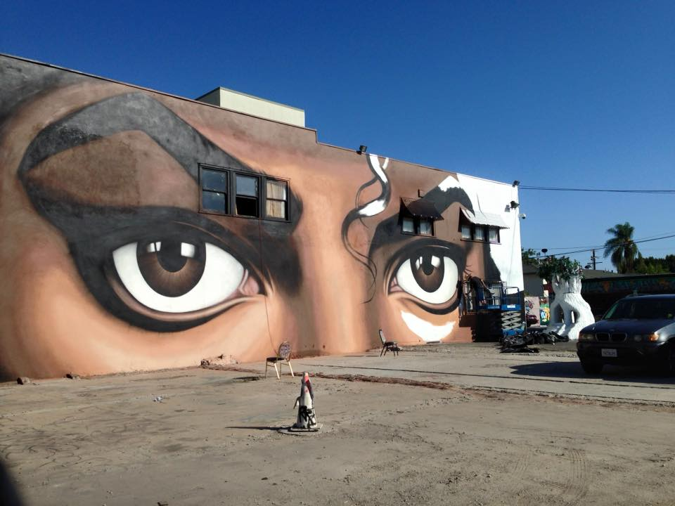 Michael jackson mural in la replaced by another michael for Jackson 5 mural
