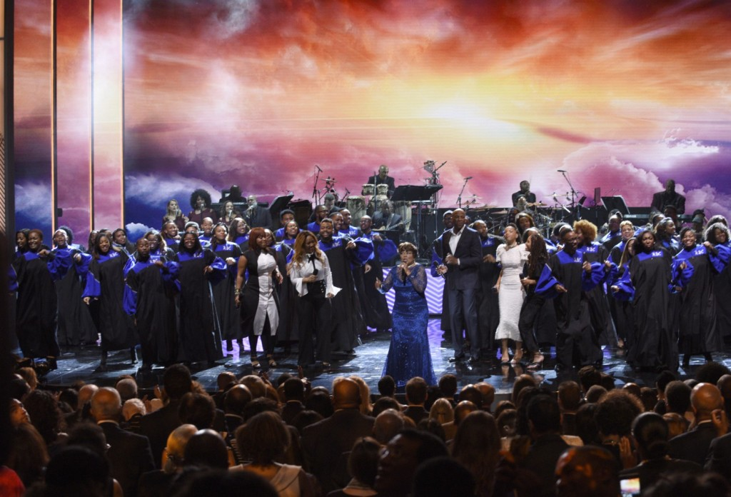 """Shirley Caesar at the center of a performance that included Donnie McClurkin, Octavia Spencer and the Howard University Gospel Choir as part of """"Taking the Stage: Changing America,"""" a concert taped at the Kennedy Center to mark the opening of the new National Museum of African American History and Culture.(Photo by ABC/ Fred Watkins)"""