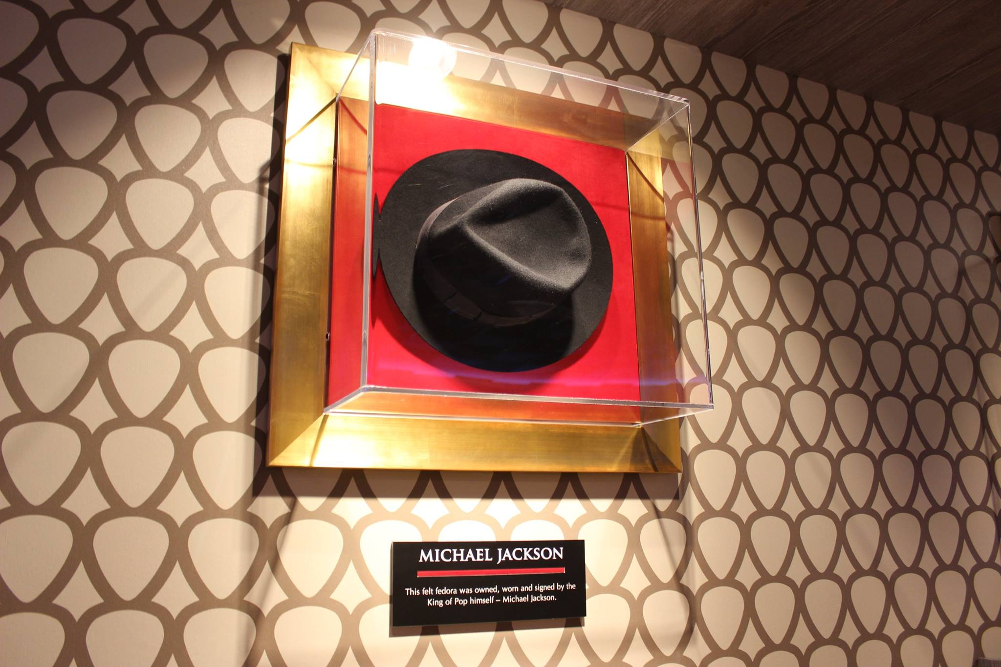And guess what  Of course a Michael Jackson memorabilia will be there! It  is a Fedora  c6f02f1a089