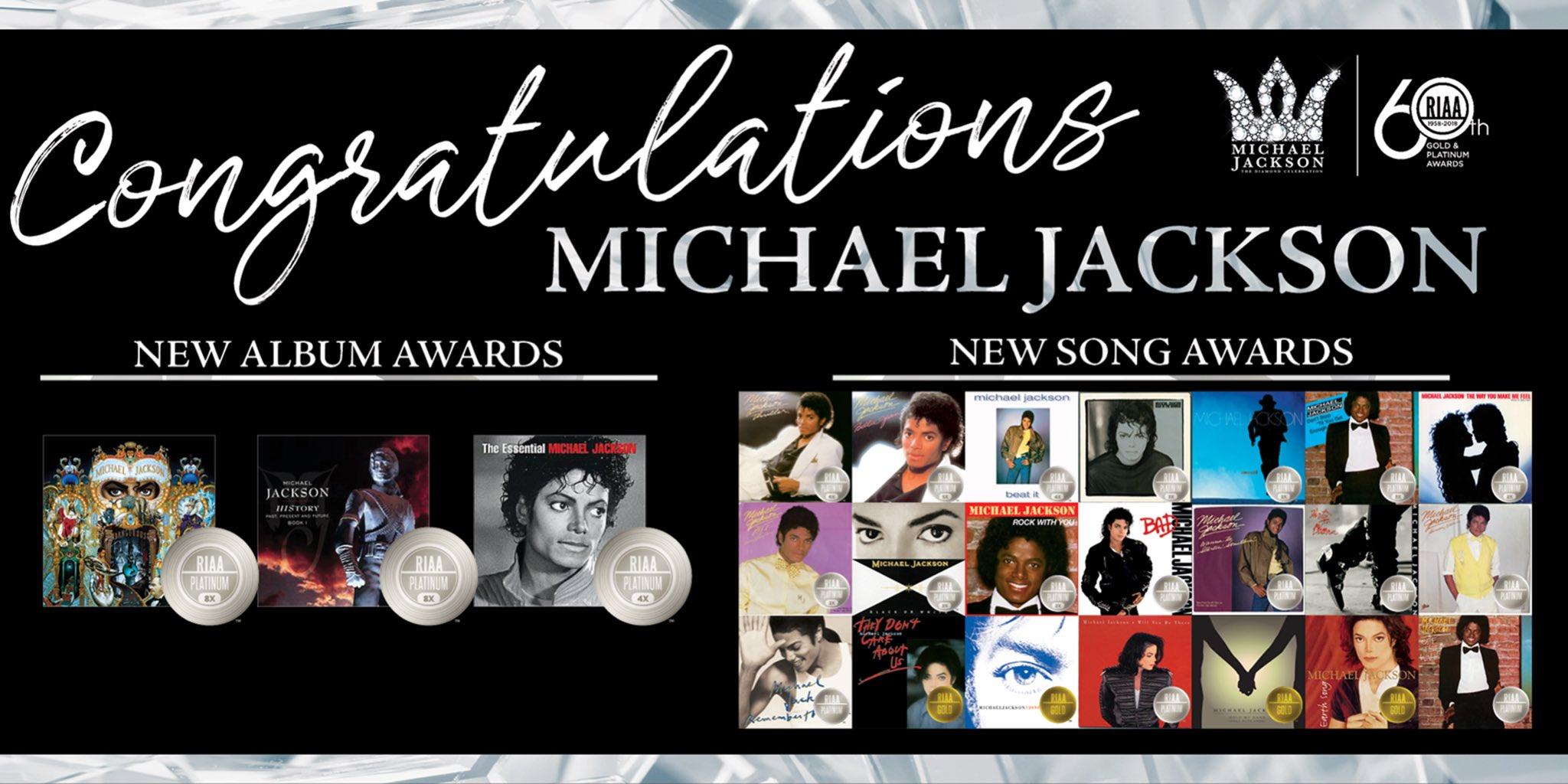 Le catalogue de Michael Jackson remporte de nouveaux prix Gold & Platinum RIAA