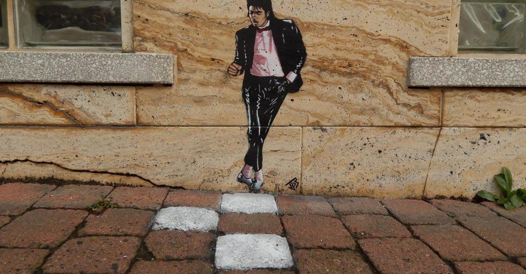 Un artiste de Street Graffiti laisse Michael Jackson au mur Jamie-Paul-Scanlon-3-1024x533
